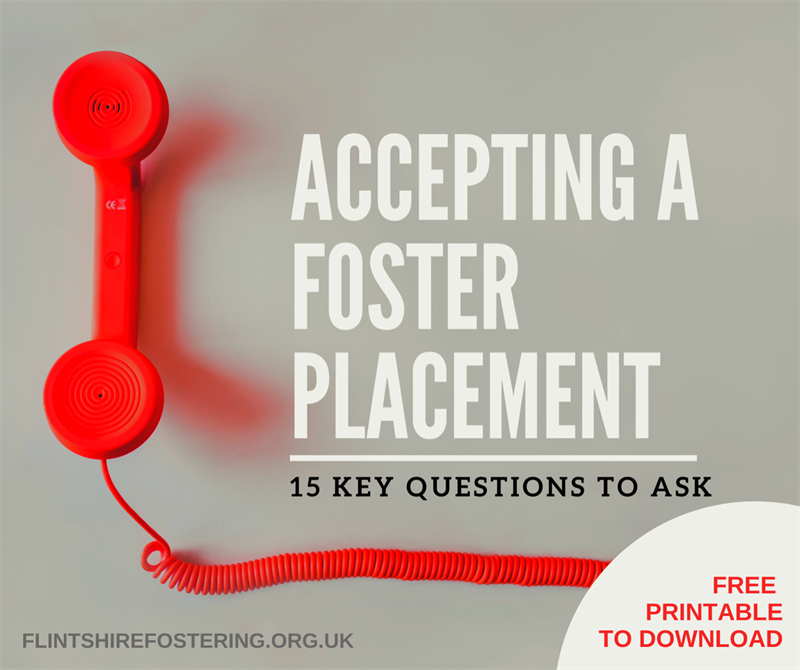 accepting a foster placement